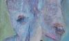 Dvojhlas, akryl na překližce, 80. léta
