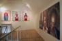 Pohled do výstavy, zleva Václav Sika, Chodky 2011 - 2012, Veronika Bromová z cyklu Království 2003 - 2005